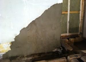 Putsad murstock
